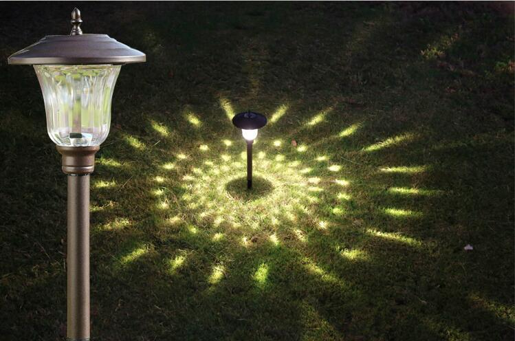 Solar Glass  LED Garden Light