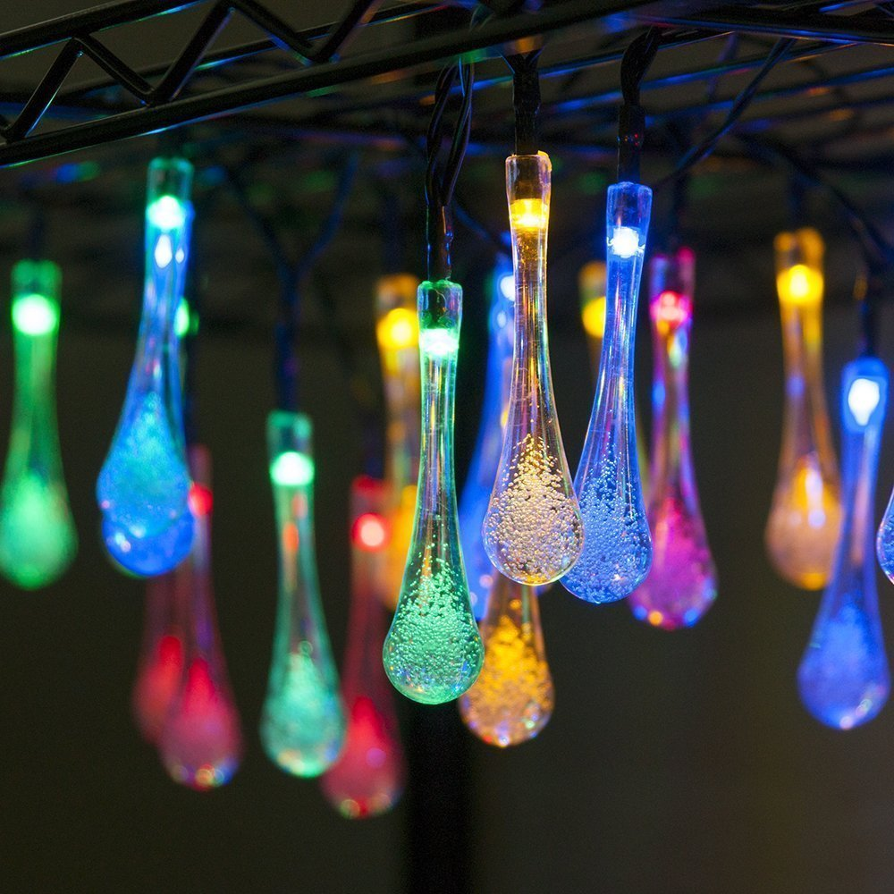 Solar String Lights RGB Colors Decorative